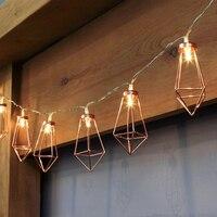 Meaningsfull Novelty 20 LED Metal Diamond Fairy String Lights Battery EU Plug Christmas Lights Wedding Party