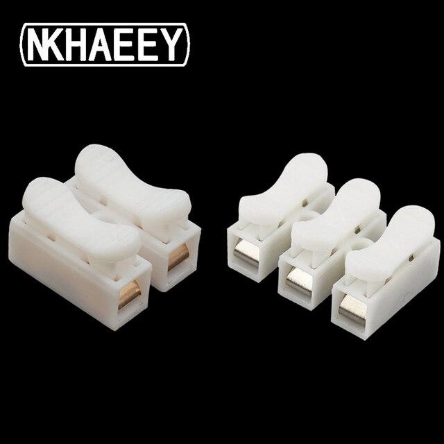 30pcs lot 2 Pins Electrical Cable Connectors CH2/CH3 Quick Splice Lock Wire Terminals Set (CH2-20x17x13mm)(CH3-27x20.5x13mm)