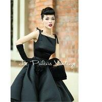 Le Palais Vintage elegant retro classic Hepburn silk high waist puff dress/ ball gown