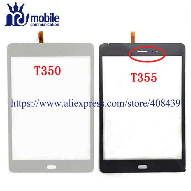 10pcs Original T350 T355 Touch Screen For Samsung Galaxy Tab A 8.0 SM-T350 T350 T355 Touch Digitizer Front Glass Panel