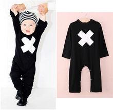 Newborn Baby Boy Infant Warm Cotton Outfit Jumpsuit Romper Clothes