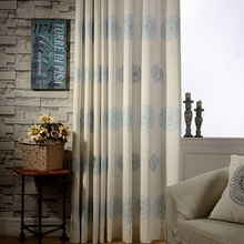 Bedroom Curtains Brown Blue Japan Window Shades  Linen Blackout Fabric Modern Living Room Curtains Single Panels