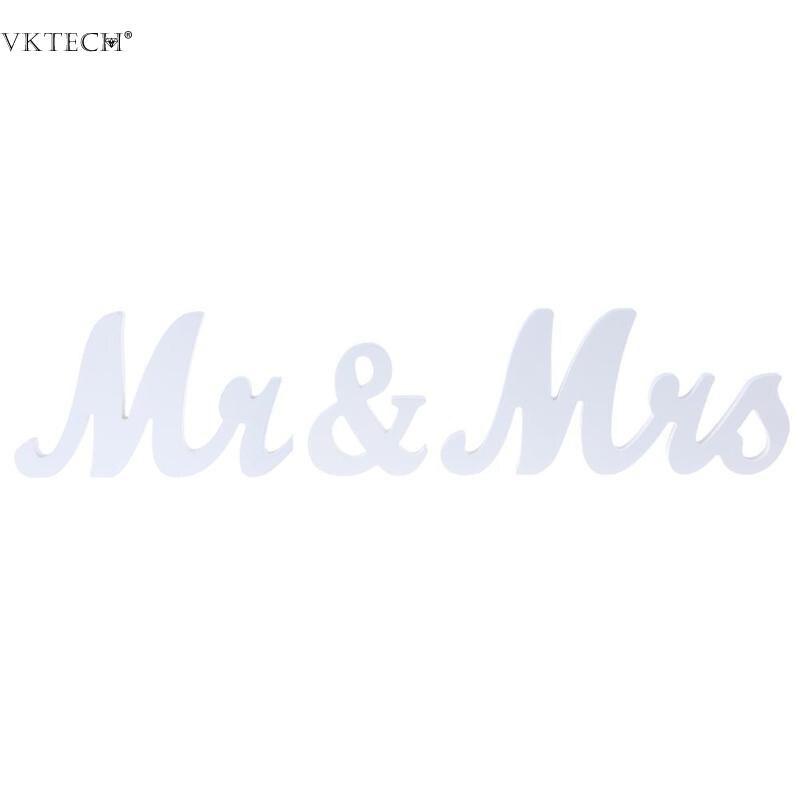 Деревянный Mr & Mrs буквы знак свадебные реквизит стоя Топ DIY Украшение стола Свадебная вечеринка поставляет украшения