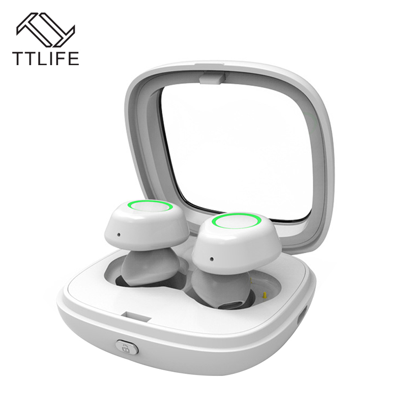 TTLIFE Mini Wireless Bluetooth 4.1 Earbud with Charging Box TWS-T01 Sport Handfree Music Earphone With HD Micro For Phone Xiaomi