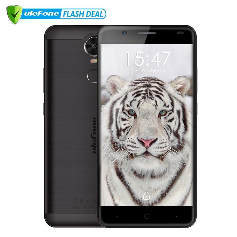 Ulefone Tigre Lite 3G Tactile ID Mobile Téléphone 5.5 HD MT6580 Quad Core Android 6.0 1 GB RAM 16 GB ROM 13MP Téléphone Portable