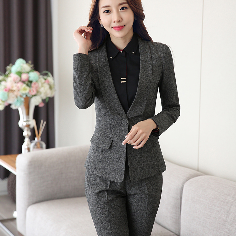 Lenshin Shawl Collar 2 Piece Lady Formal Pant Suit For Wedding ...