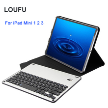 Loufu Bluetooth Keyboard For iPad Mini 2 3 1 Case Slim Leather Cover With Aluminium 7.9 Tablet