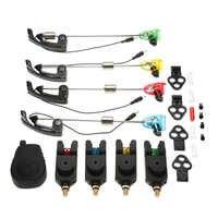 Conjunto de alarmas de pesca Lixada conjunto de alarmas LED de luz inalámbrica conjunto de alertas de Swinger en herramientas de pesca carpa pesca Swinger Bell indicador de alarma
