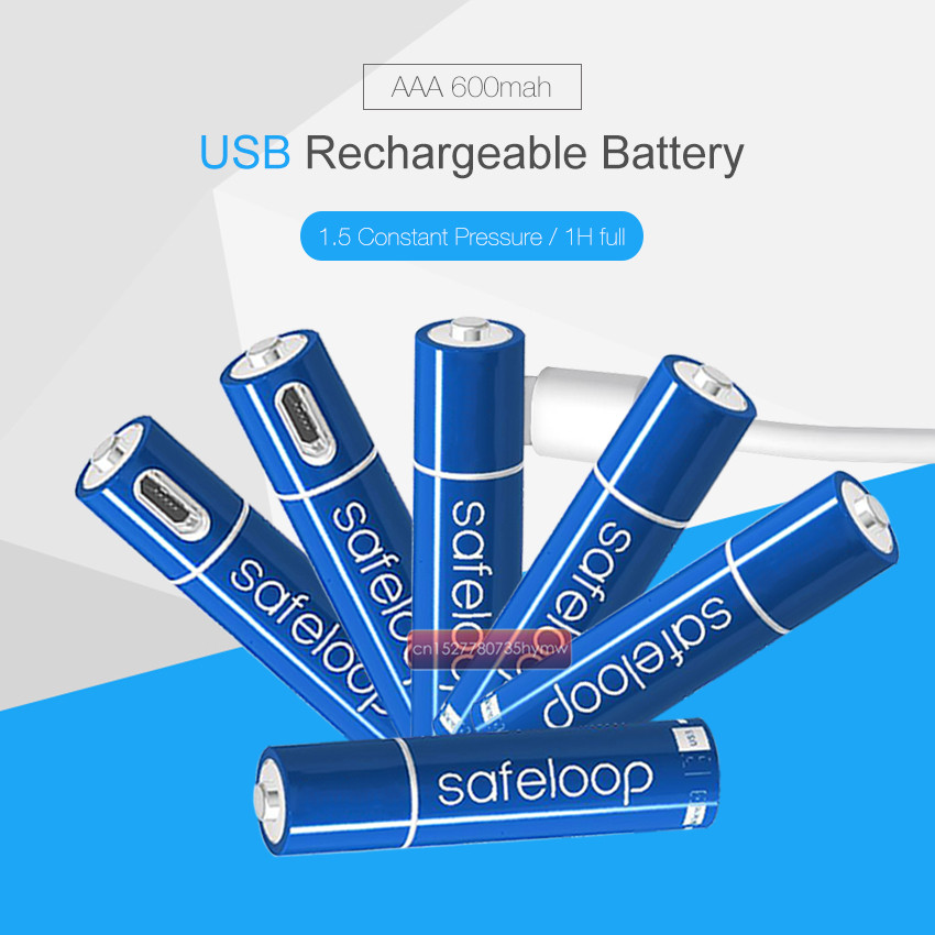 20pcs Technology! USB Rechargeable Battery 1.5V AAA 600mah li-polymer li-ion battery Remote control batteries, toy car batteries image
