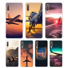 Silicone Phone Case aircraft airplane Fashion Printing for Samsung Galaxy A8S A9 A8 Star A7 A6 A5 A3 Plus 2018 2017 2016 Cover