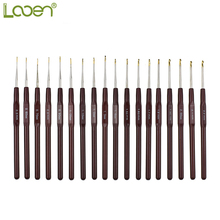 Looen 18pcs/set Crochet Hooks 0.5MM-2.2MM Aluminum Alloy Needle Set Yarn Craft Kit Knitting Accessory For Women Mom Gift