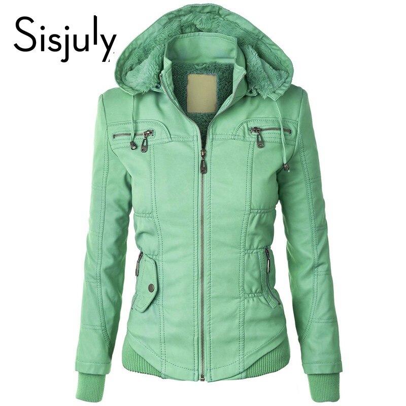 Sisjuly women european coat zipper hoodi