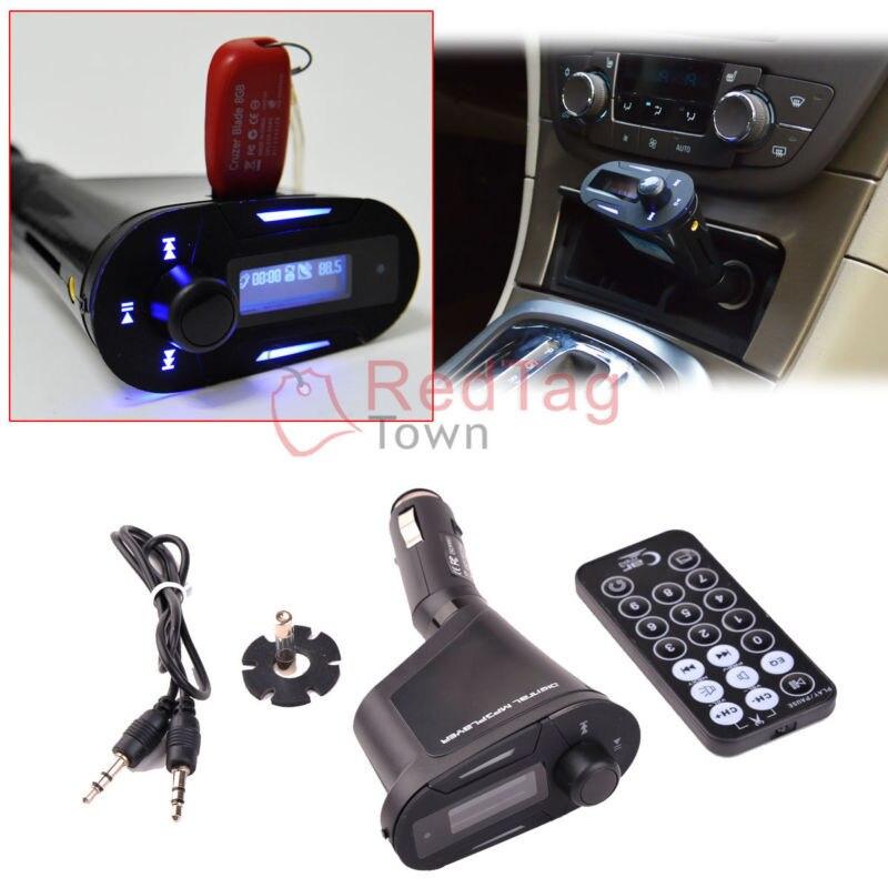 LCD Car Kit FM Transmitter MP3 Music Player FM Modulator w//Remote USB SD Remote