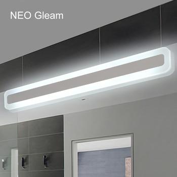 NEO Brillo Moderno cuarto de baño/wc LED frontal luces de espejo de ...