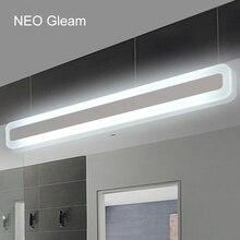 NEO gleam современная ванная комната/туалет светодиодный спереди зеркало огни ванной акрил зеркало с подсветкой Спальня 0.4 м 1.2 м 8 Вт 24 Вт AC85 265V