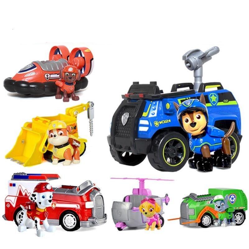 Paw patrol dog car chase marshall rocky zuma skye vehicle car kids Toys Figure Doll birthday kids gift toys 1pcs