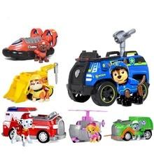 Paw patrol dog car chase marshall rocky zuma skye vehicle kids Toys Figure Doll birthday gift toys 1pcs