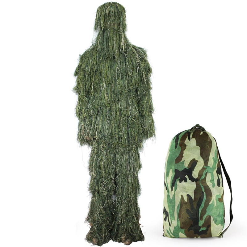 forest design snow camouflage ghillie suit grass type cs go hunting clothing tactical sniper 3d. Black Bedroom Furniture Sets. Home Design Ideas