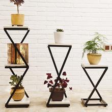 Простой многослойный Цветочный Стенд из кованого железа, Балконный пол, зеленый стебель, Орхидея, цветочный горшок, Европейский цветочный горшок для гостиной
