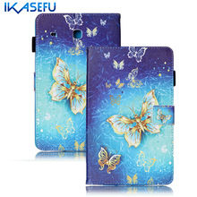 IKASEFU Filp Stand For Samsung Galaxy Tab E 8.0 T377 T377V Coque Fundas Cover Case for Samsung Galaxy tab e 8 inch PU Leather