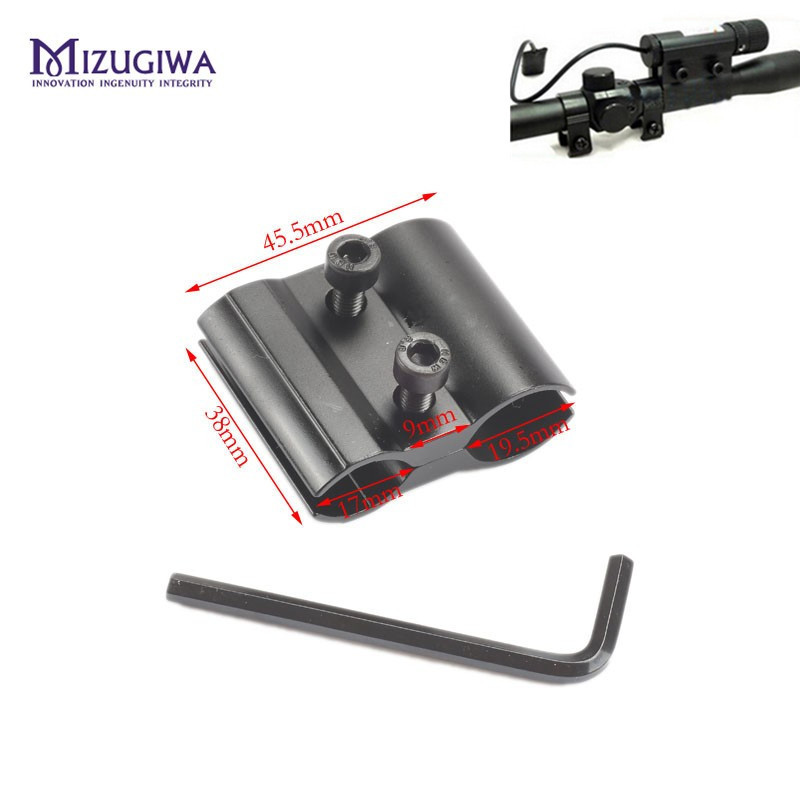 MIZUGIWA Tactical Barrel Ring Scope Clamp Mount Holder For Flashlight Torch Laser Sight Gun Rifles Pistol Airsoft Military
