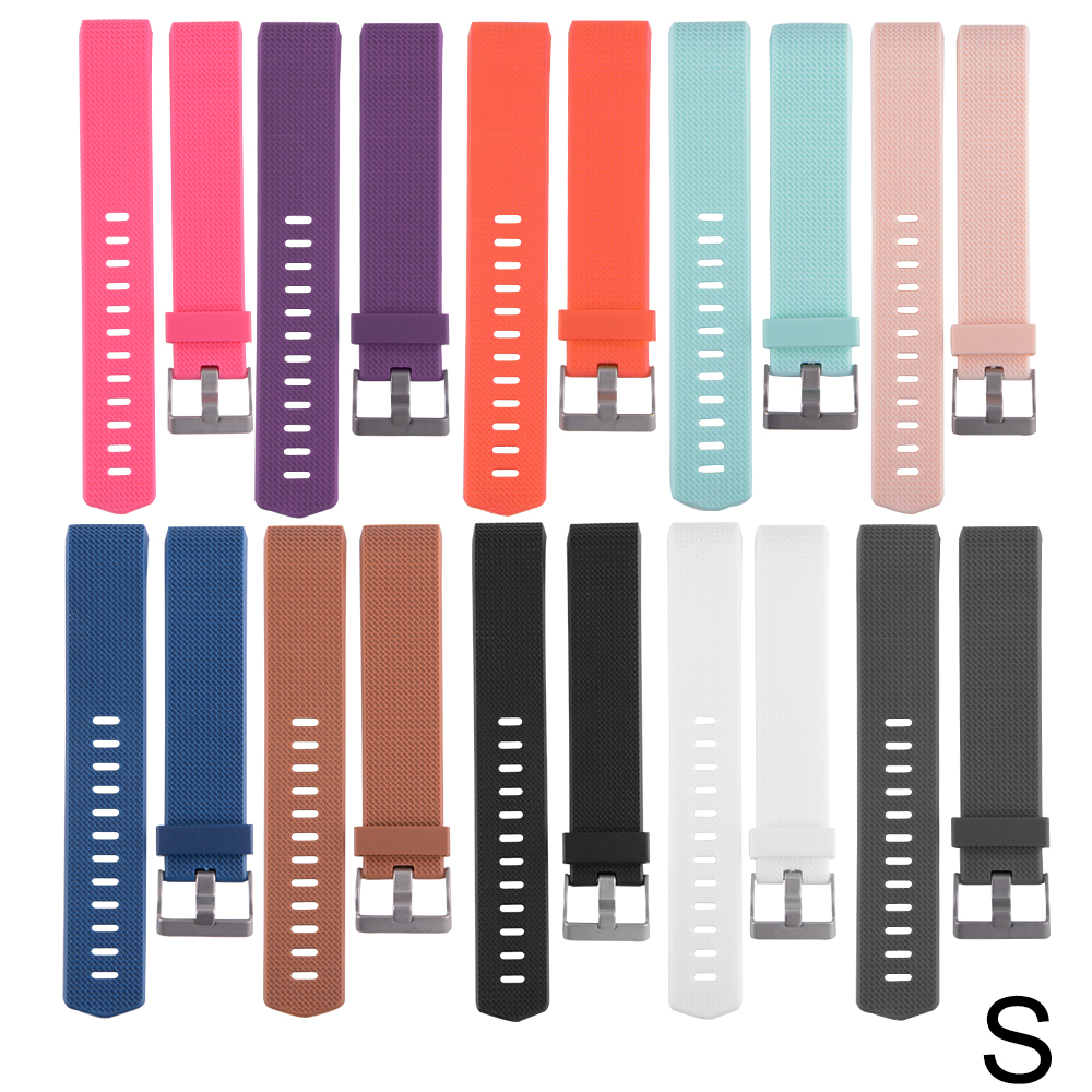 10pcs Colorful Replacement Wristband with Metal Clasp for Fitbit Charge 2 TH557