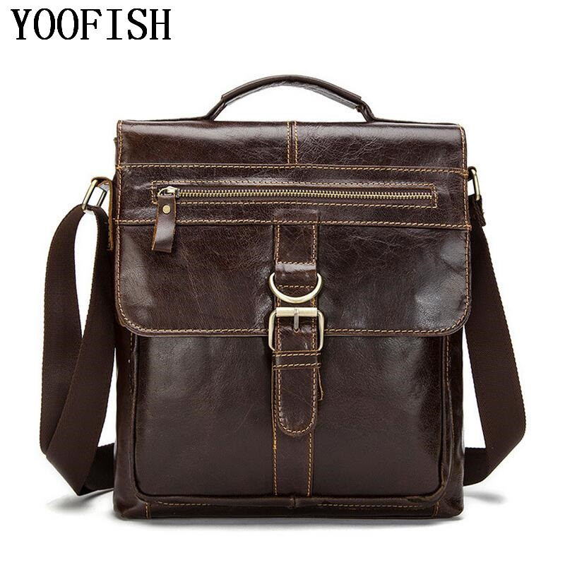 Genuine Leather men Messenger Bag Casual Crossbody Bag Fashion Men Handbag Bags for gift Shoulder Bags Men LJ-0784 brand 100% genuine leather men messenger bag casual crossbody bag business men s handbag bags for gift shoulder bags men li 1747