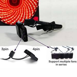 Image 5 - 10 adet/1 adet taşınabilir buzdolabı 12cm Bilgisayar Soğutucu Fan 16dB Ultra Sessiz 15 LEDs PC Oyun Hava Akımı fanlar 2in1 Kablo Soğuk Soğutucu