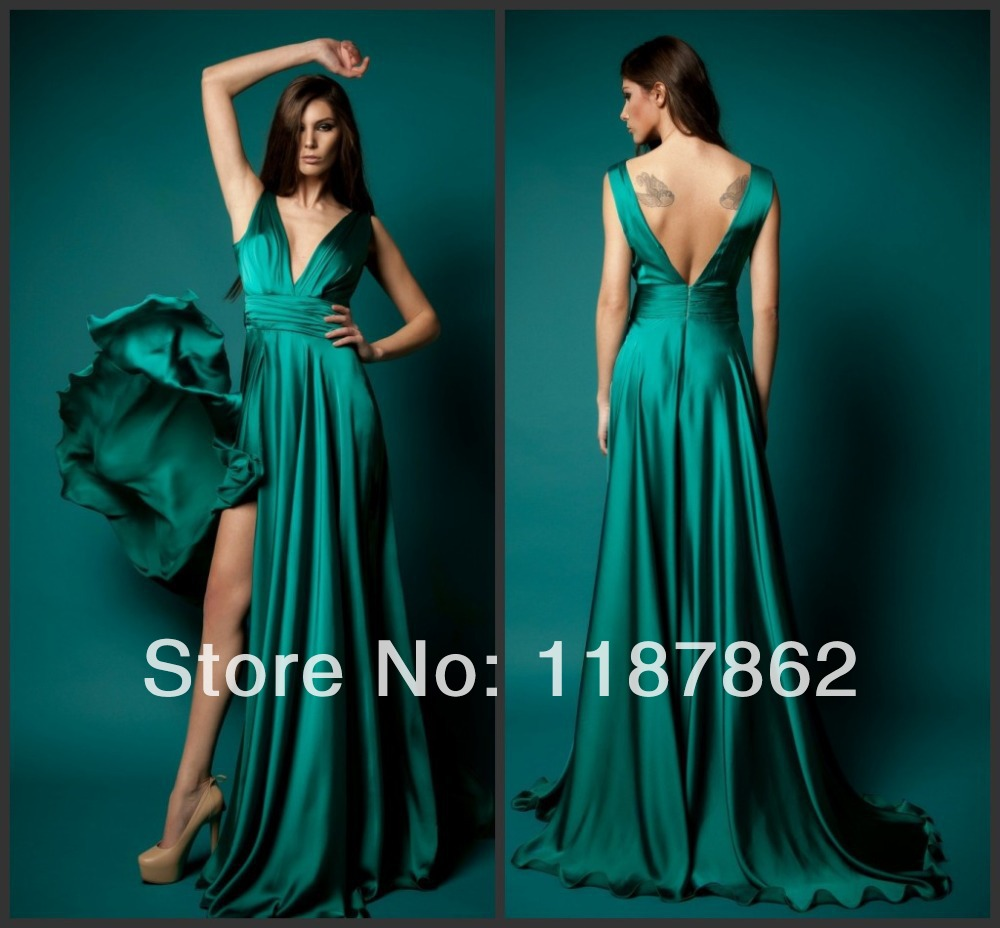 Ed  Gorgeous New  Emerald Green Evening Dresses Women Summer Dress Long Evening Dress Formal Dress In Evening Dresses From Weddings Events On