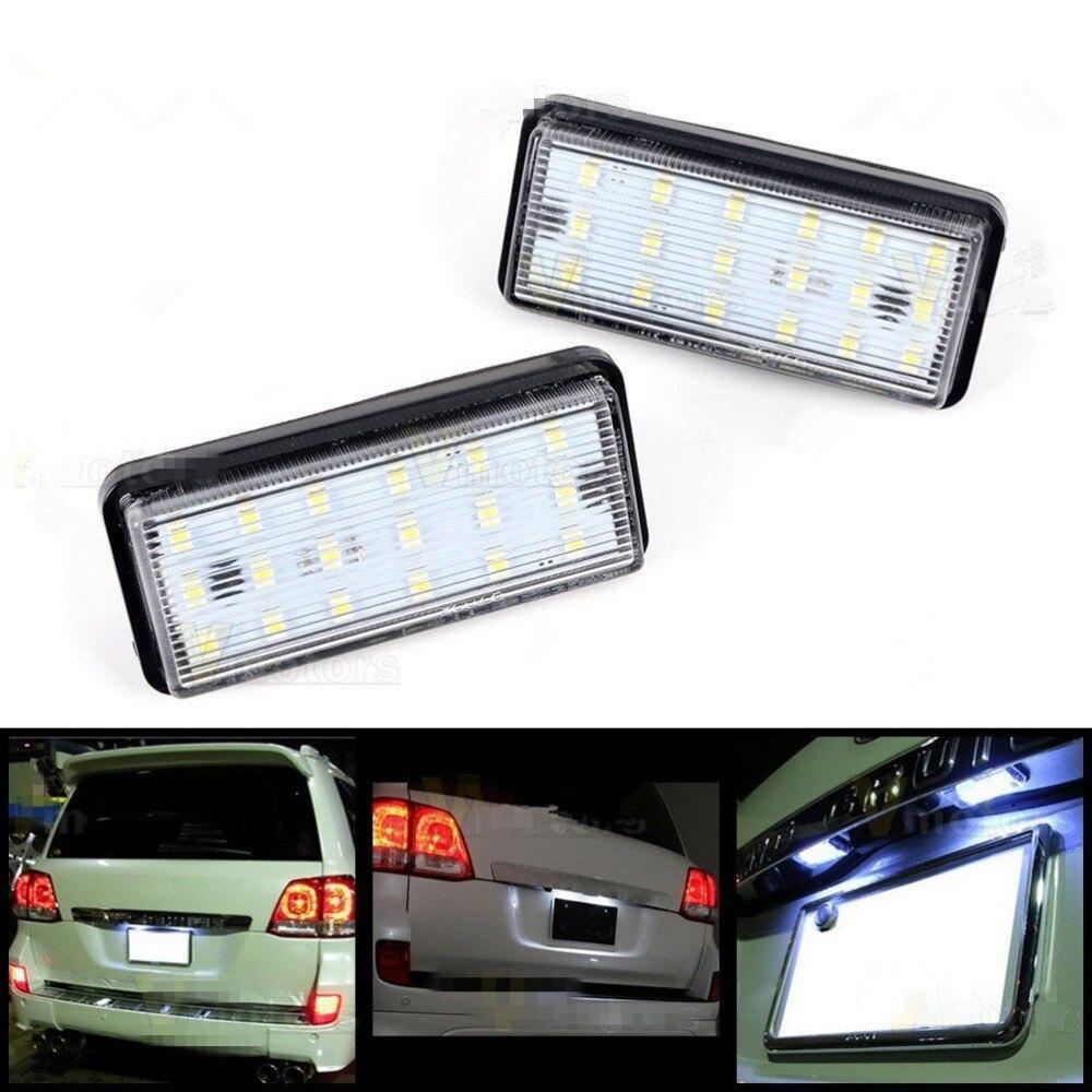 CYAN BODEN BAY Für Toyota Land Cruiser Lexus LX GX470 Xenon Weiß 18SMD LED Kennzeichenbeleuchtung