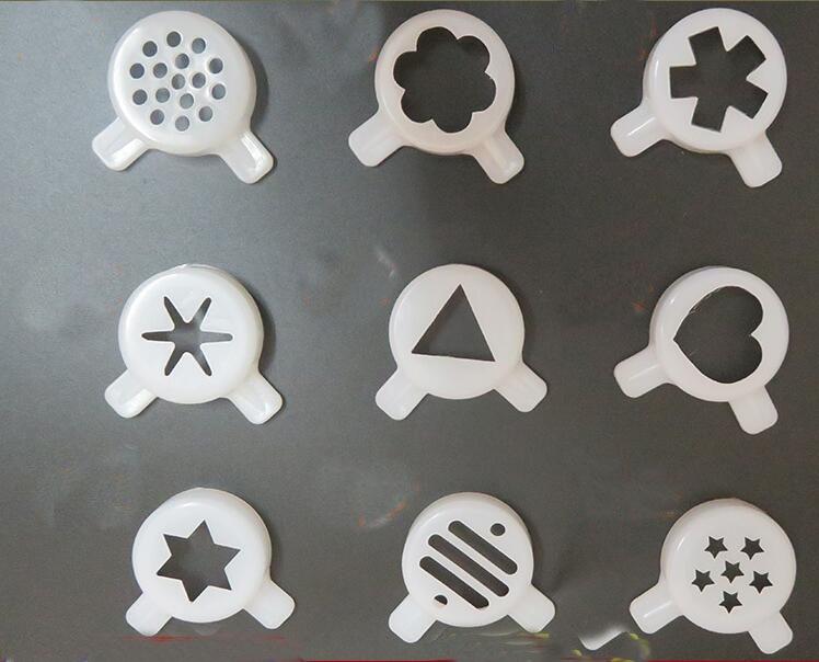 9 IN 1  Ice Cream Maker Parts Nozzle Kit Universal For 29mm Inner Diameter