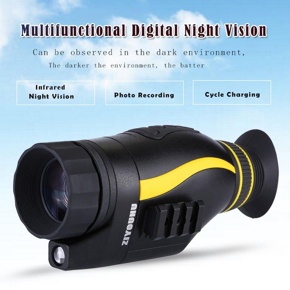 Infrarouge multifonctionnel numérique Vision nocturne HD 4x35 monoculaire caméra portée lunettes Photo vidéo grand écran outil extérieur nouveau