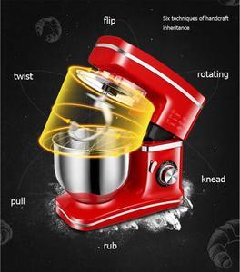 Image 5 - 1200W 5.5L misa ze stali nierdzewnej 8 prędkość do kuchni do jedzenia mikser na stojaku krem trzepaczka do jajek Blender ciasto chleb mikser maszyna do produkcji