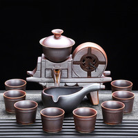 Creative Lazy Automatic Tea Set Home Tea Table Whole Set Ceramic Kung Fu Tea Cup Teapot Free Shipping