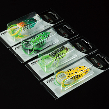 10g 5cm High Quality Kopper Live Target Frog Lure Snakehead Lure Topwater Simulation Frog Fishing Lure Soft Bass Bait