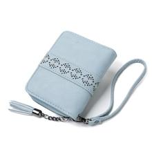 New Hollow Out Women Short Clutch Wallet Floral Mini Cellphone Bag Zipper Tassel Coin Purse Flower Fresh Girls Small Card Holder