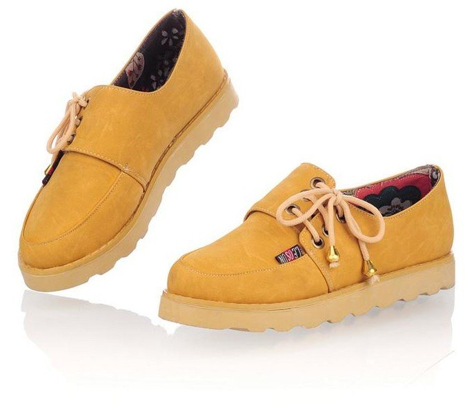 cow sole lace up s shoes for s flat