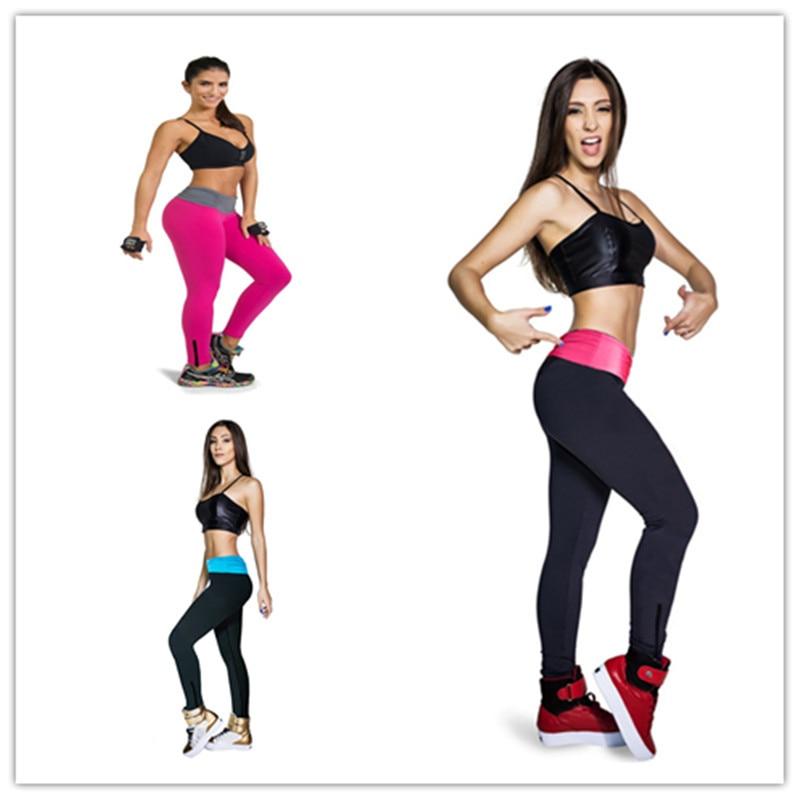 2017 New sexy fold waist with zipper casual dress colorful dancing Sportwear trousers slim skinny pants fashion women leggings