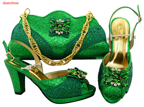 doershow African Shoes and Matching Bags Italian Italian Shoes with Matching Bags for Wedding Italy Nigerian Women party!SVP1-31