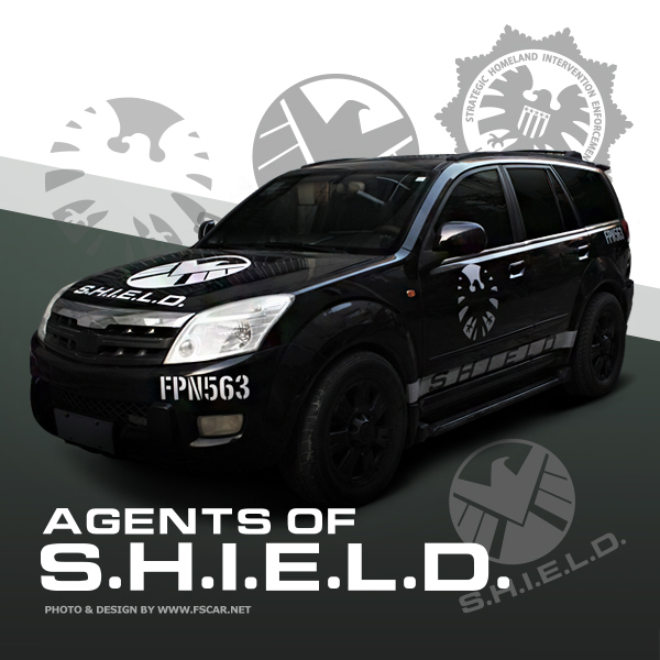 Noizzy Avengers Agents Of Shield Car Auto Sticker Decal Logo Symbol