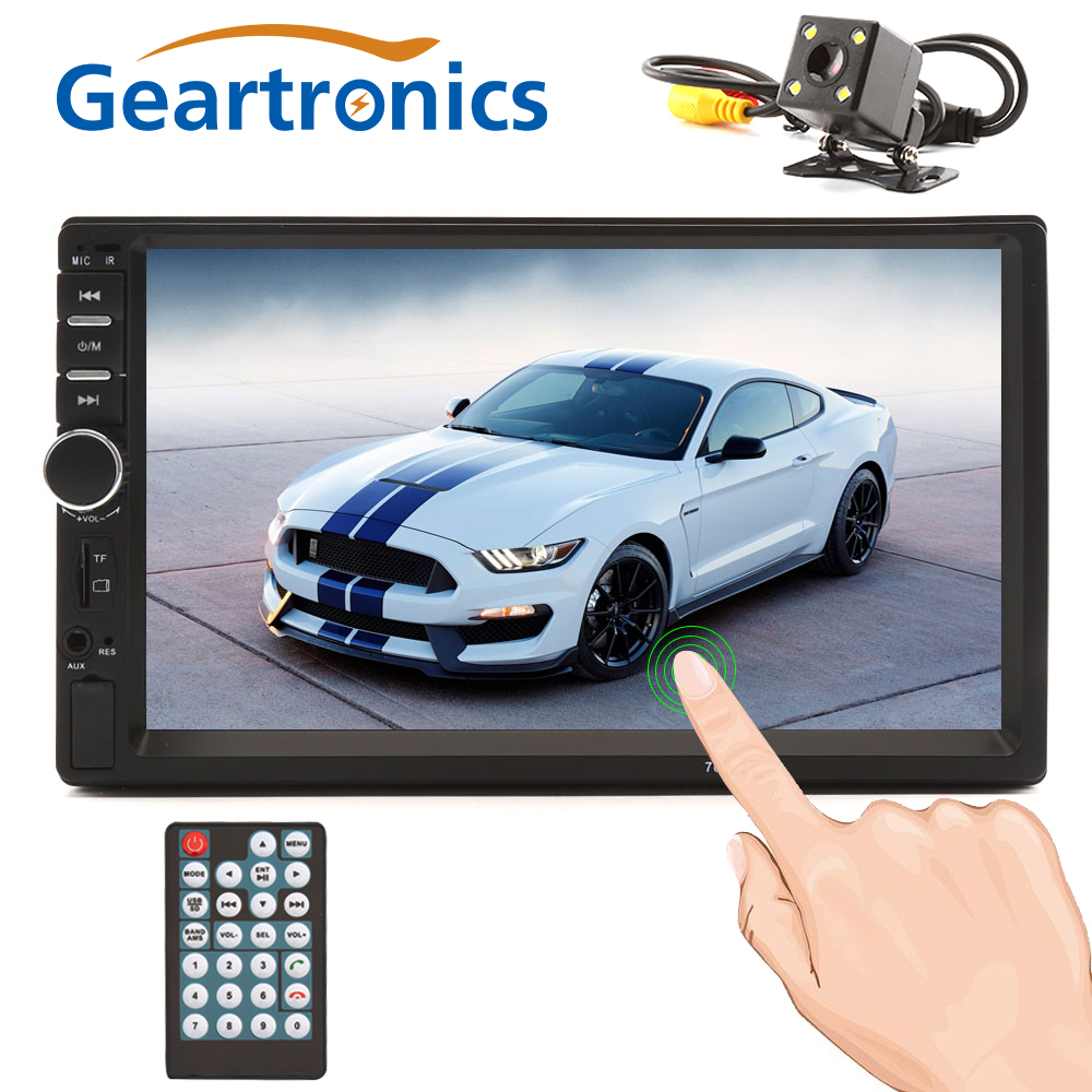 2 Din Car Radio General Car Models 7'' inch LCD Touch Screen Multimedia Player Bluetooth Car Audio Support Rear View Camera 7 inch touch screen 2 din car multimedia radio bluetooth mp4 mp5 video usb sd mp3 auto player autoradio with rear view camera