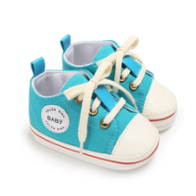 hot deal buy infant baby girls shoes baby boys shoes first walkers tollder canvas  shoes lace-up baby girl sneaker prewalker 0-18m