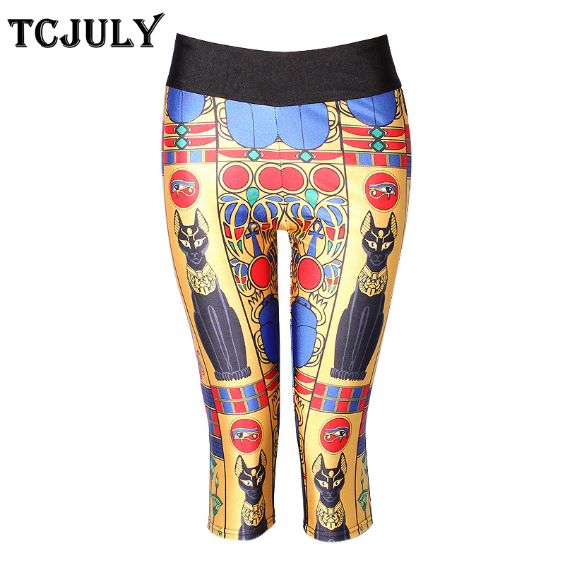 TCJULY New Design   Capri     Pants   Women Large Sizes High Waist Push Up Fitness Leggings With Pockets Quick Dry Flex Cropped Trousers