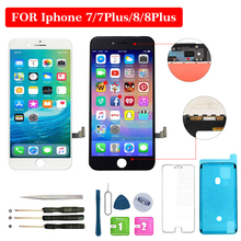 цена на For iphone 7 LCD  7 Plus LCD 8 LCD 8 Plus LCD Display 4.7 inch 5.5 inch 3D Touch Screen Digitizer Assembly Replacement Screen