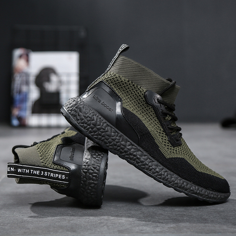 Summer Men Socks Sneakers Beathable Mesh Male Casual Shoes Lace up Sock Shoes Loafers Boys Super Light Sock Trainers Size 39-46