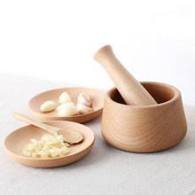 Medicine Practical Promotional For Garlic Wood Grinding Rod For Only Organic Kitchen Accessories(China)