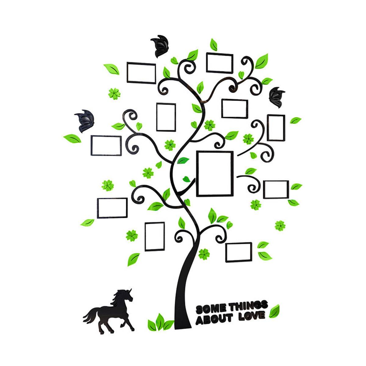 Acrylic 3D Family Photo Frame Tree Wall Stickers Removable DIY Art Wall Poster Decals Poster For Living Room Bedroom Home Decor
