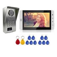 Grenseure FREE SHIPPING 7 Touch White Monitor Video Door Phone Intercom System Waterproof RFID Code Keypad