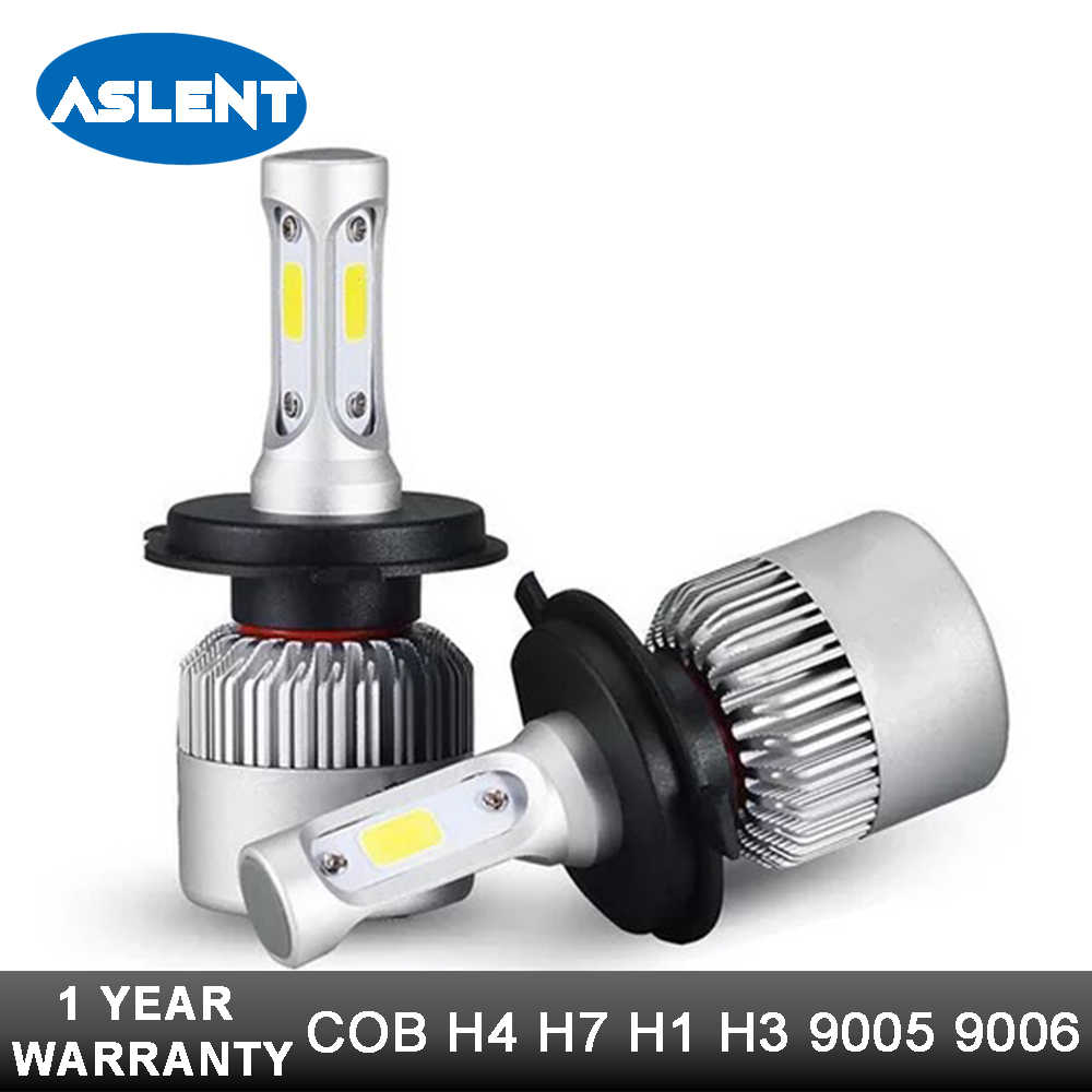 Aslent H4 High Low Beam H7 H11 9005 9006 LED Car Headlight Bulbs 12v 24v COB Chips H3 H13 9004 9007 Led Auto Headlamp Fog Light