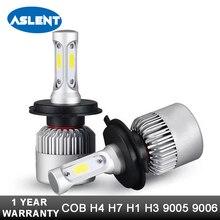 цена на Aslent H4 High Low Beam H7 H11 9005 9006 LED Car Headlight Bulbs 12v 24v COB Chips H3 H13 9004 9007 Led Auto Headlamp Fog Light